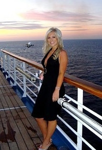 Sarah on deck August 2008