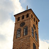 """Ancient """"lunar calendar"""" clock tower (shows """"midnight"""" for sunset) in Sarajevo old town (Turkish part)"""