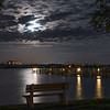 Night sky over Little Sarasota Bay