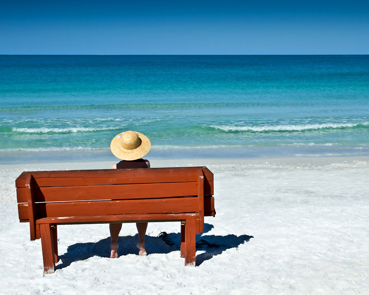 The bench is located on Lido Beach at the public access.