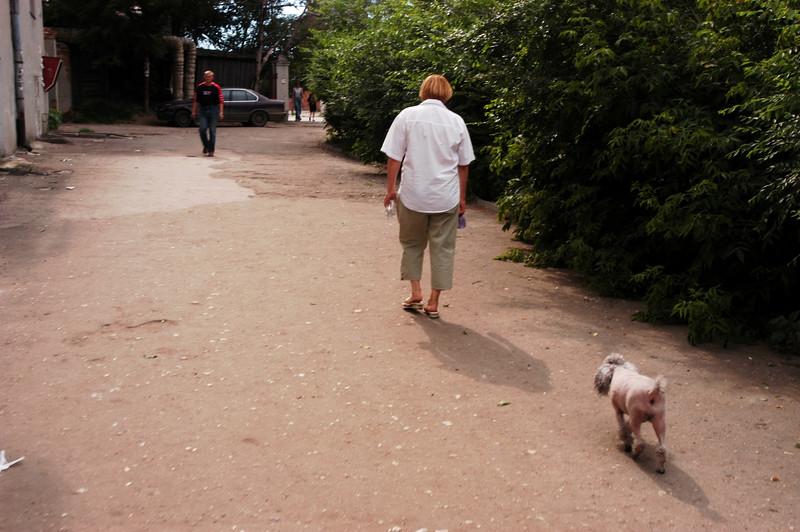 Galina and her puppy.