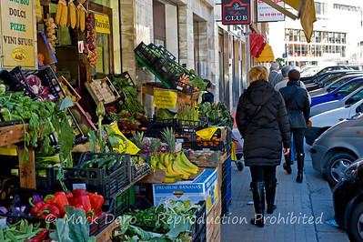 Green grocer, Cagliari, Sardinia, Italy