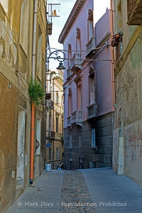 Street view in the old city, Cagliari, Sardinia, Italy