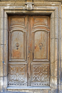 Door detail in the old city, Cagliari, Sardinia, Italy