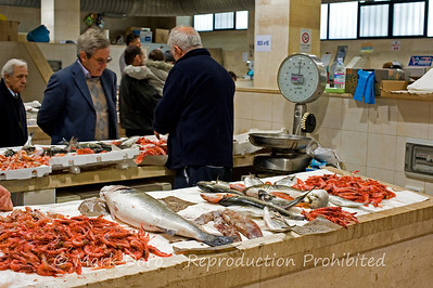 Fish market, Cagliari, Sardinia, Italy