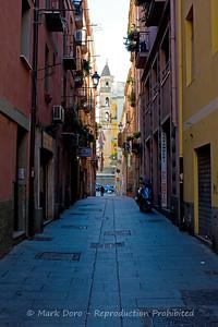 Street view, Cagliari, Sardinia, Italy