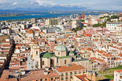 View over the city, Cagliari, Sardinia, Italy