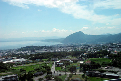 Beppu City from the highway