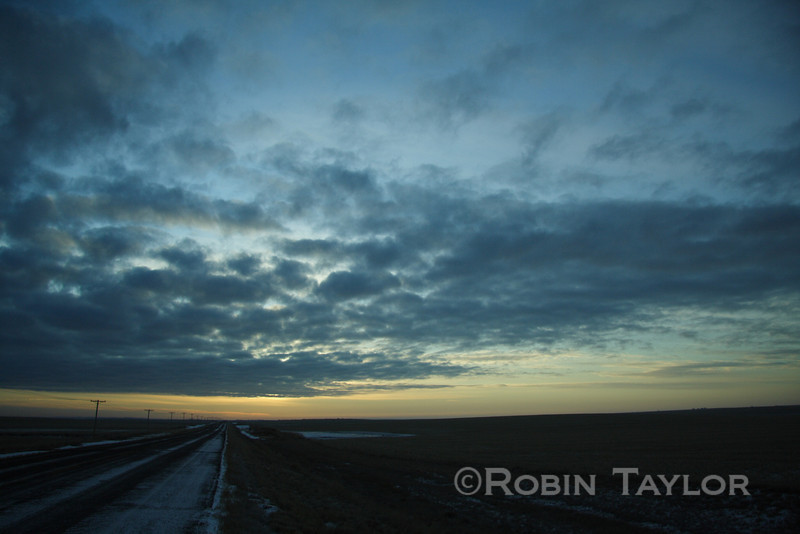 Prairie sky on a cold morning
