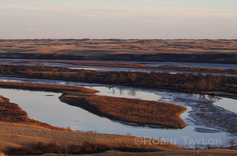 Evening on the South Saskatchewan River, shot from Wickie's Hill, south of Eston, Saskatchewan