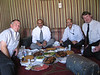 Fish BBQ with from left to right, Paul Alexander (GE), Hamoud Al-Sefri (Saudi Airlines), Bashar Doleh (GE) and myself.