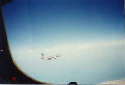 French Mirage refueling mission
