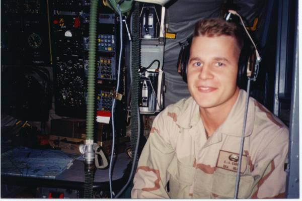 Chris on refueling mission, Saudi Arabia