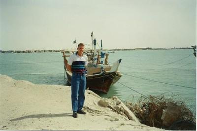 Chris somewhere in Kuwait
