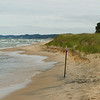 The popular Douglas Beach is only a couple of miles away--this is Lake Michigan.