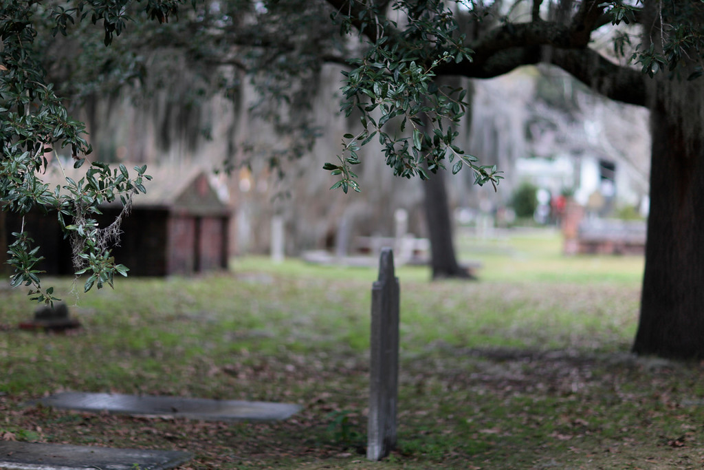 This cemetery in central Savannah was a stopping point for soldiers as far back as the revolutionary war.  It is said that George Washington's soldiers camped here and got bored and pulled up the headstones.  Many of the headstones are just piled on the side because no one knows where they belong anymore.