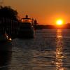 Sunrise on the Savannah River across from River Street near the Westin