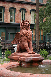 Fountain outside of the old Cotton Exchange - Savannah, GA