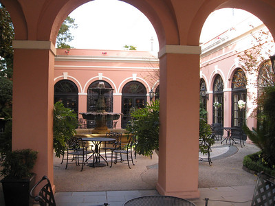 Courtyard at Mills House Hotel, Charleston