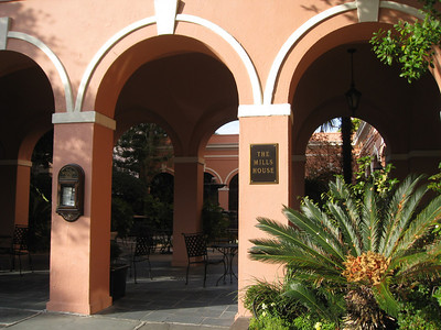 Entrance to courtyard at Mills House Hotel, Charleston
