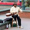 Street musician, Savannah, GA