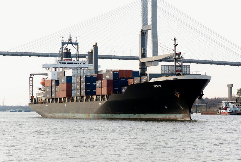 Container Ship on the Savannah River