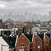 A loft roof top view of the world -Brooklyn looking west toward Manhatten which now seems worlds away.