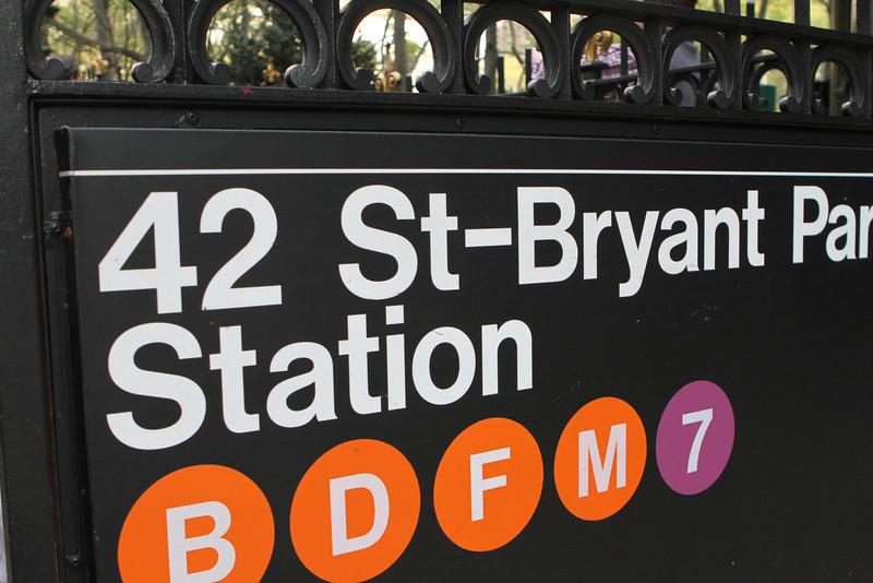 42 St-Bryant Park Station