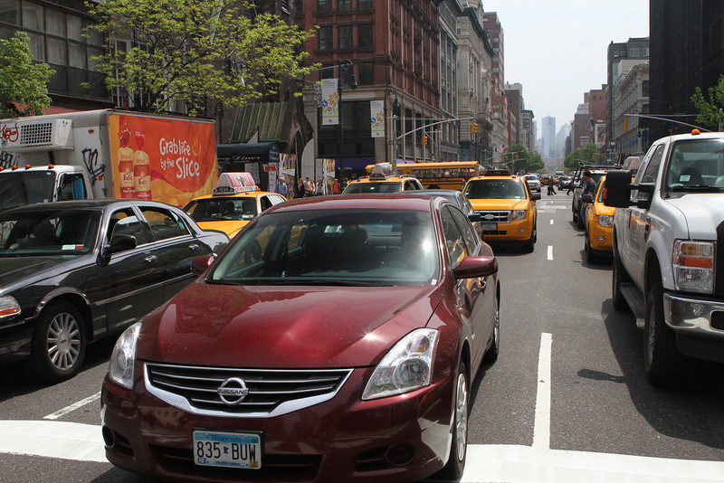 Big Apple means a big supply of taxis, cars and trucks