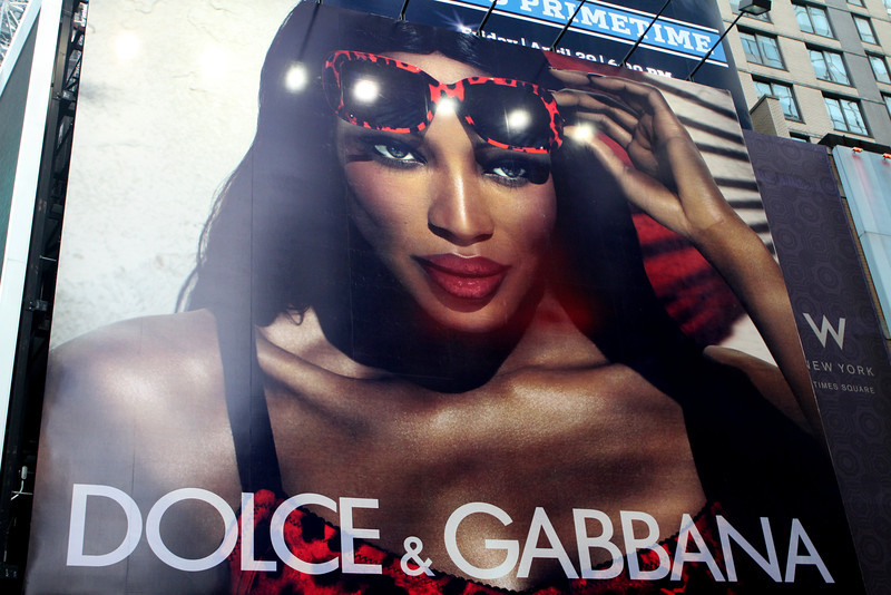 Dolce & Gabbana - a really, really huge billboard