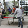 Skill and off shots -outdoor table tennis...what a great idea.