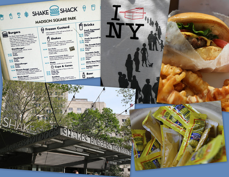 Ellen Knechel met us at the Shake Shack - Madison Square Park's only eatery.  Noble works here - they serve thousands and thousands of people