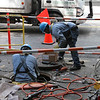 Workers everywhere working to get the work done
