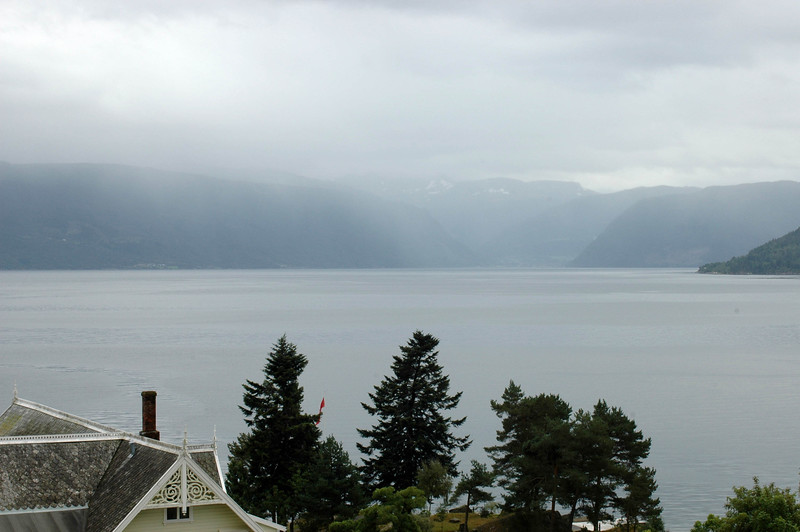 Balestrand, Norway, including the roof of our hotel.