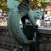 Welcome to Copenhagen dragon-chameleon outside Town Hall.