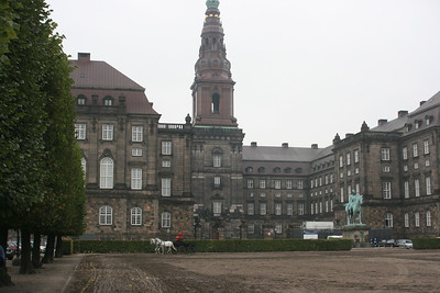 Christianborg castle in Copenhagen