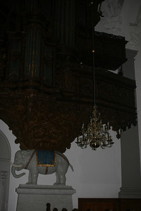 Elephant in a church in Copenhagen