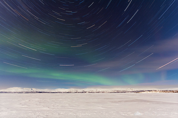 Star trails AND the northern lights over Abisko