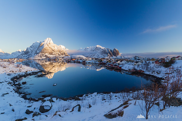 Village of Reine after sunrise - Lofoten Islands