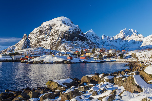 One of the fishing villages on the Lofoten Islands