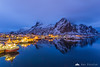 Svolvaer at the blue hour
