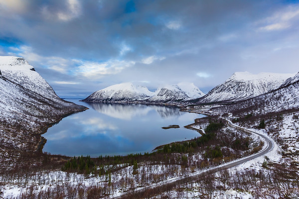 View from the Bergsbotn viewpoint on Senja Island