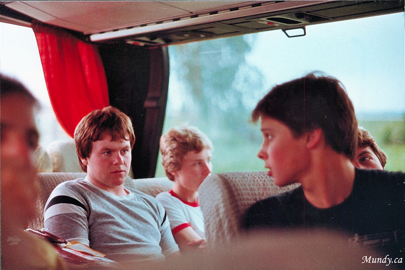 Adrew and Scott on the bus ...