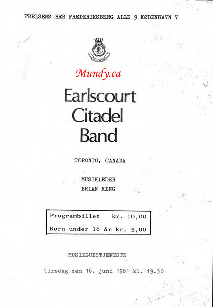 This is a 4 page programme for out concert on June 16, 1981.