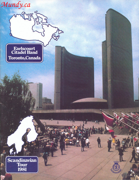 The following shots are scans of the programs printed for our tour.  This is the cover.<br /> <br /> Our corps, Earlscourt Citadel was located at 1615 Dufferin Street in Toronto.