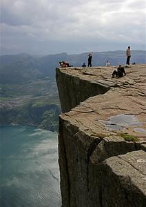 Prekestolen (600m), Noorwegen.