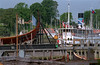 Viking Ship Museum & harbour, Roskilde, June 2002. <I>Havhingsten</I> (<I>Sea Stallion</I>) under construction. Nikon F801, colour neg film.
