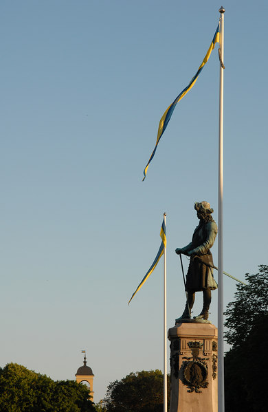King Karl XI in the Great Square, Karlskrona