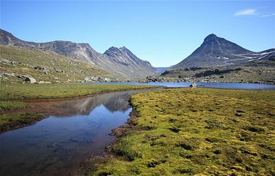 Uitzicht op Kyrkje Mountain, Jotunheimen National Park, Noorwegen.