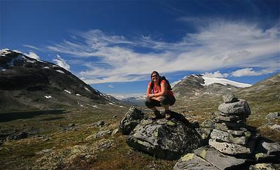Leirvassbu, Jotunheimen National Park, Noorwegen.